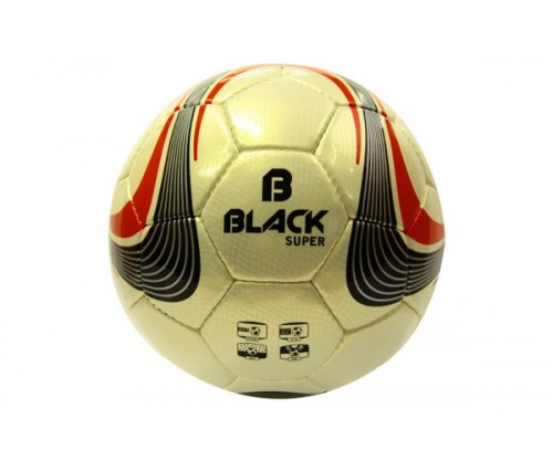 Black Super El Dikişli Futbol Topu No:5